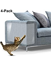 "IN HAND Furniture Scratch Guards, X-Large Premium Flexible Vinyl Cat Couch Protector Guards with Pins for Protecting Your Upholstered Furniture, Cat Scratch Deterrent Pad, 18"" L X 12"" W"