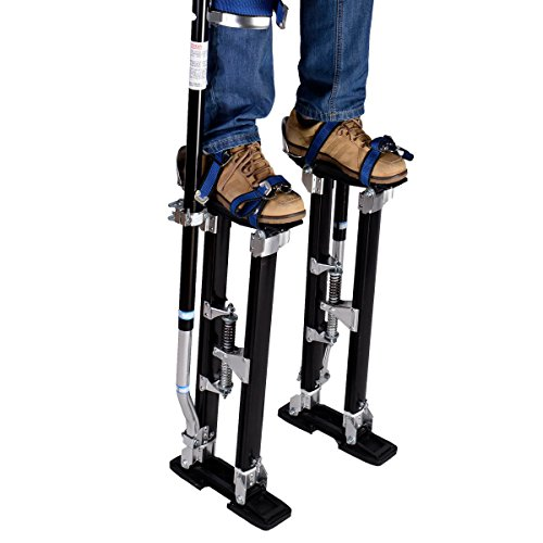 New 18-30 Inch Drywall Stilts Aluminum Tool Painters Walking Taping Finishing Black by MTN Gearsmith (Image #1)