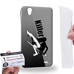 Case88 [Huawei Ascend G630] Gel TPU Carcasa/Funda & Tarjeta de garantía - Art Design The Killer Personalities Black Art2166