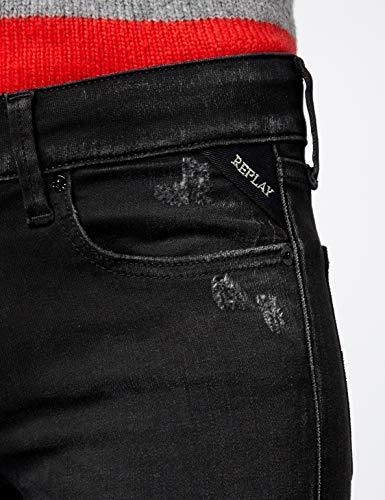 Jeans Hyperflex Ajustados Luz Replay Para black Negro 98 Mujer A5pExnw