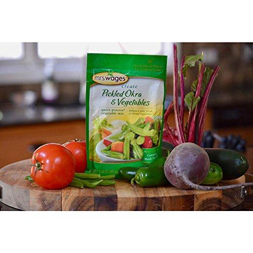 Mrs. Wages Create Pickled Orka & Vegetables, 3.36 Oz Quck Process Vegetable Pickling Mix
