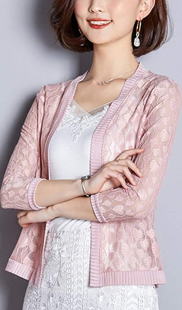 Leggero Comodo Aperto Bolero Basic Elegante Yiqi Coprispalle Bolero Top da Donna con Scollo a V