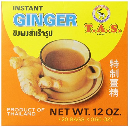 TAS Instant Thai Tea, Ginger, 12 Ounce by T.A.S