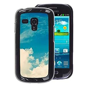 A-type Arte & diseño plástico duro Fundas Cover Cubre Hard Case Cover para Samsung Galaxy S3 MINI 8190 (NOT S3) (Sun Clouds Summer Warm)