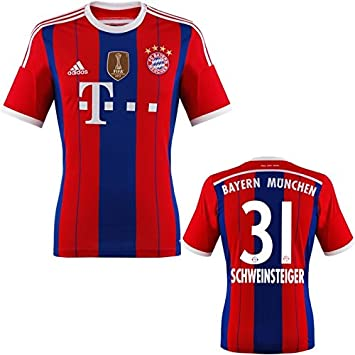 finest selection ef523 39b31 Bayern Munich Schweinsteiger Jersey Home 2015 WC: Amazon.co ...