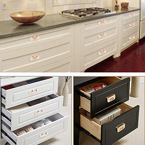ROBAG Cabinet Drawer Pulls, Satin Nickel Kitchen Shoe Cabinet Wine Cooler Furniture Cabinet Wardrobe Door Handle Single Hole 30-Pack A4 by ROBAG (Image #2)