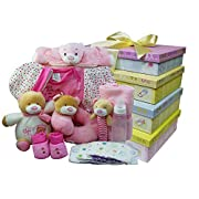 Welcome Little One New Baby Gift Tower - Pink Girls