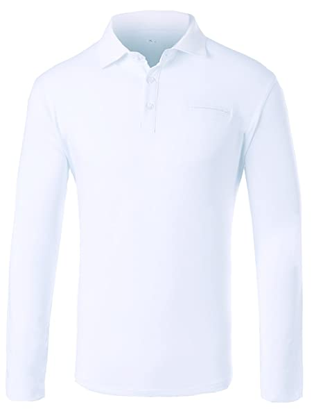 3b565f077fd ... denmark hsrked mens long sleeve polo shirts slim fit white s aa3a5 5836f