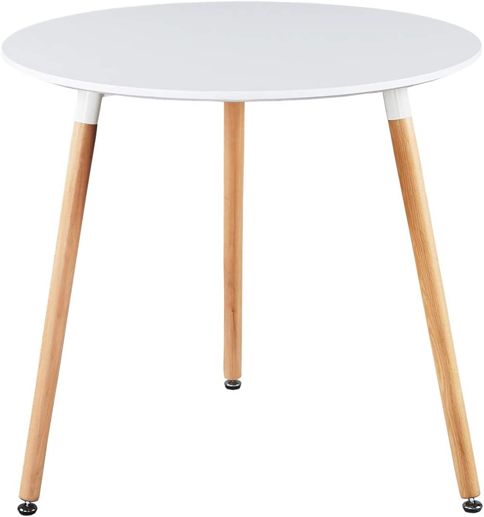GreenForest Dining Table White Modern Round Table