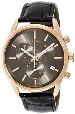 Calvin Klein K4M276C3 Mens Formality Black Chrono Watch