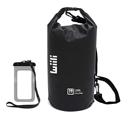 3f011da38647 WIILII Waterproof Dry Bag 10L 20L Roll Top Compression Dry Gear Backpack  with Water Proof Phone Case and Shoulder Strap for Boating