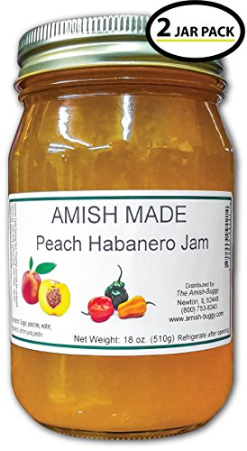 - Amish Jam - Two 18 Oz Jars (Peach Habanero)