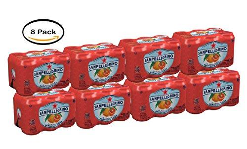 PACK OF 8 - San Pellegrino Aranciata Rossa Sparkling Blood Orange Beverage, 11.15 fl oz, 6 Count