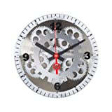 Maple's 10-Inch Moving Gear Wall Clock, Glass Cover