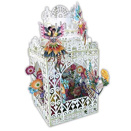 Paper D'Art 3D Pop Up Card Fairies Happy Birthday ()