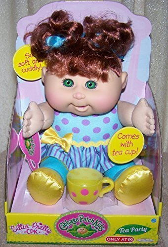 Cabbage Patch Kids Tea Party Toddler Doll, Red Hair, Gree...