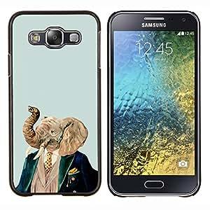 """Be-Star Único Patrón Plástico Duro Fundas Cover Cubre Hard Case Cover Para Samsung Galaxy E5 / SM-E500 ( Elefante Arte Pintura Retrato Noble Hombre"""" )"""