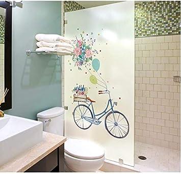 Vinilo electrostatico autoadhesivo modelo bicicleta 45 x 60 cm para ventanas hogar escaparates comercios mamparas baño CHIPYHOME: Amazon.es: Bricolaje y herramientas