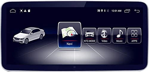 10.25 Car Touch Screen for Mercedes Benz C GLC Class W205 2014-2019 NTG5.0, 8-Core 4GB RAM 64GB ROM Blue-ray Anti-glare Screen Android GPS Navigation Radio Stereo Dash Multimedia Player