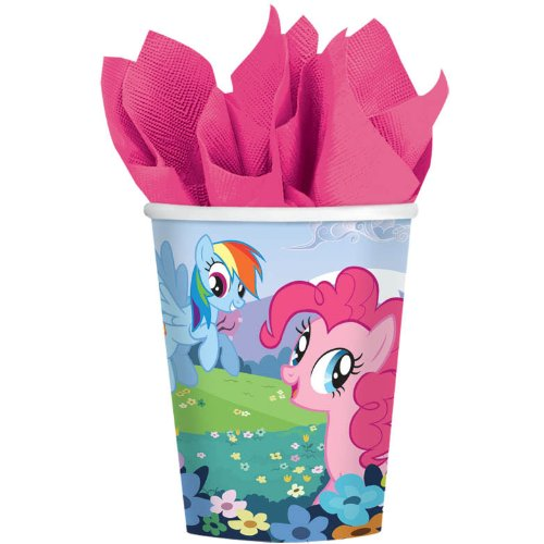 Charming My Little Pony Friendship Birthday Party Paper Cups Disposable Tableware, 8 Pieces, Made from Paper, Multi-colored, 9 oz. by Amscan (Cup Friendship)