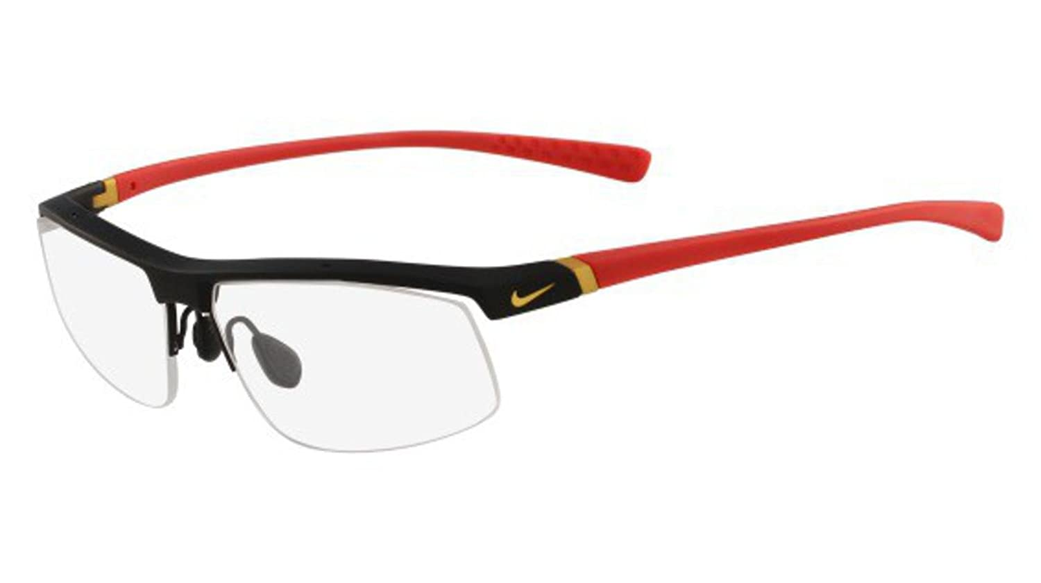 a14f8716d1 Eyeglasses NIKE 7071 3 016 MATTE BLACK CHALLENGE RED at Amazon Men s  Clothing store