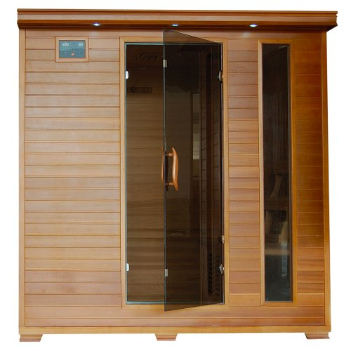 6-Person Cedar Infrared Sauna w/ 10 Carbon Heaters by Radiant Saunas
