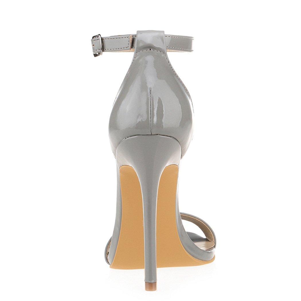 917def92c7fd2 Amazon.com   ZriEy Women's Heeled Sandals Ankle Strap Dress High Heels  Stilettos 11CM Shoes   Heeled Sandals