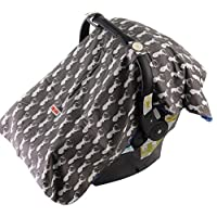 Baby Car Seat Cover For Boys By Danha – Carseat Canopy – Gray Color With Deer...