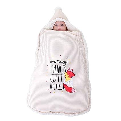 JSIHENA Invierno Sacos Dormir Recién Nacido Anti-Repentino Recien Nacido Otoño E Invierno Color Algodón