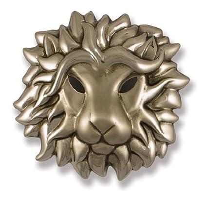 Regal Lion Door Knocker   Nickel Silver (Premium Size)
