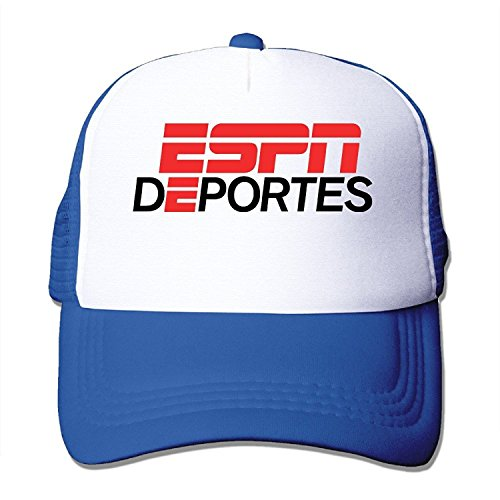 Fashion Espn Deportes Logo Adult Nylon Adjustable Mesh Hat Hat Royalblue One Size Fits Most