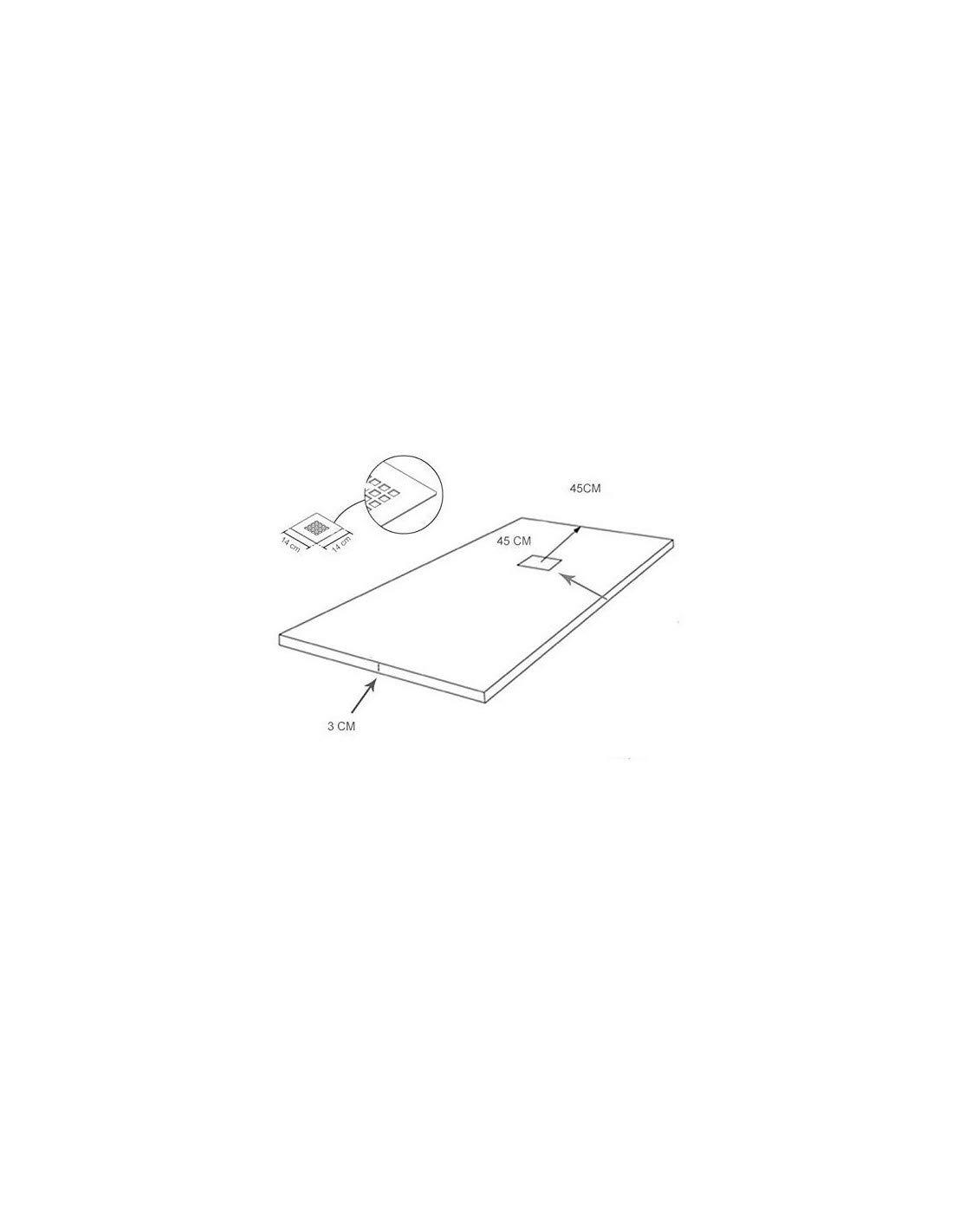 PLATO DE DUCHA DE RESINA CALIDAD PREMIUM RESINA LIGERA ALTO PORCENTAJE DE CARGA MINERAL GELCOAT 75x160 cm Crema RAL 1015