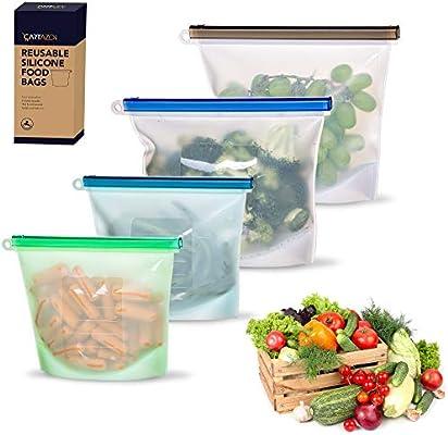 Cartazon - Bolsa de silicona reutilizable para verduras, líquidos ...