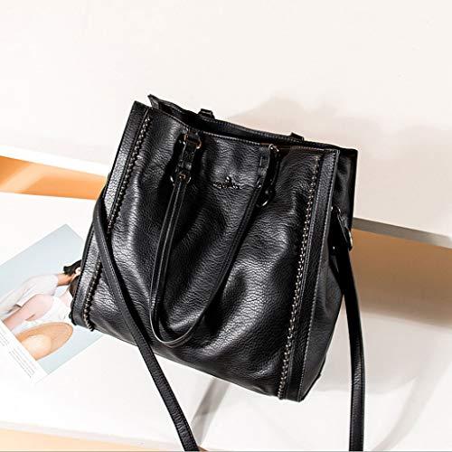 Bolso Hombro 33 Elegante 34 5 Bolso Mujer Color Colores 5cm ZDD Minimalista la Mensajero Negro de Bolso 9 multifunción de y de 0qxIpaY