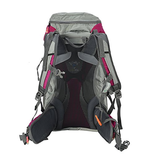 Tofine External Frame Backpack Backpackers Survival Gear Bag for 72 Hour 3 Day with Rain Cover Hot Pink 32L by Tofine (Image #7)