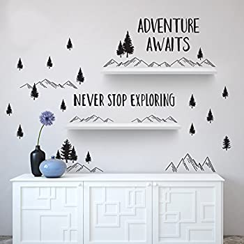 Amazon Com Mountain Scene Wall Decals Wall Decals
