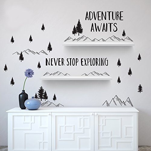 (Better Than Paint | Adventure Awaits | Wall Art Transfers | Fast & Easy)