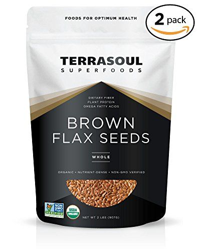 Terrasoul Superfoods Organic Brown Flax Seeds, 4 Pound ()