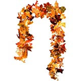 DearHouse 2 Pack Fall Garland Maple