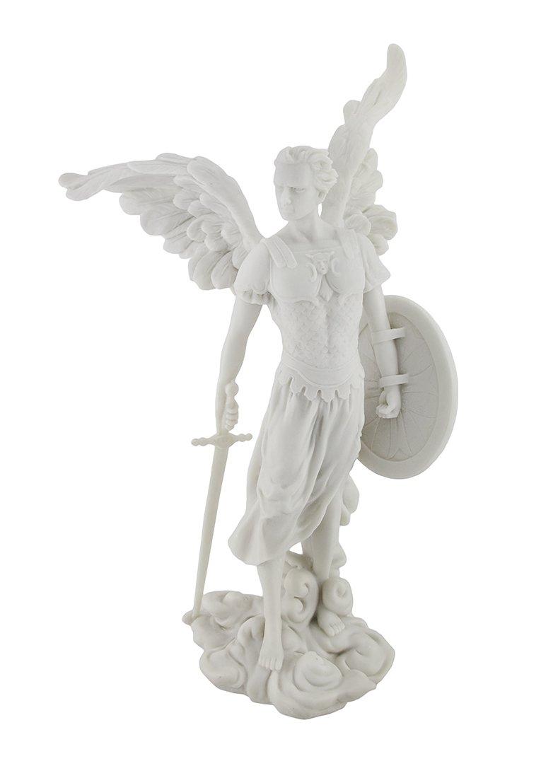 Marbled Archangel Saint Michael Warrior Statue