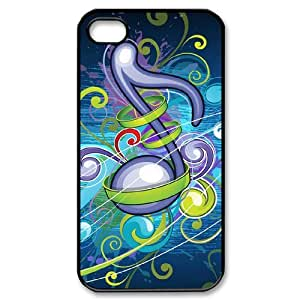 CHSY CASE DIY Design Dynamic Music 1 Pattern Phone Case For Iphone 4/4s