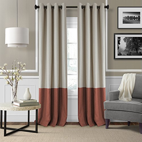 red and gray curtains - 7
