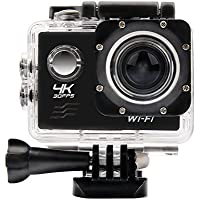 OTHA 4K Sport Action Camera 16MP Wi-Fi Waterproof Helmet Camera With 170 Degrees Wide Angle Lens -- Black