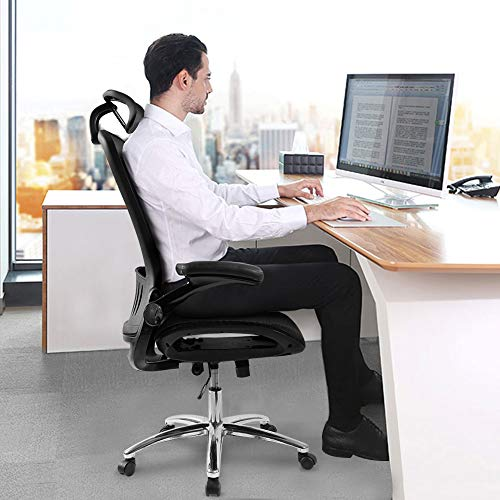 Office Chair Office Mid Back Swivel Lumbar Support Desk Ergonomic Mesh Adjustable Home Desk Office Chair Modern Design Reclining Chair