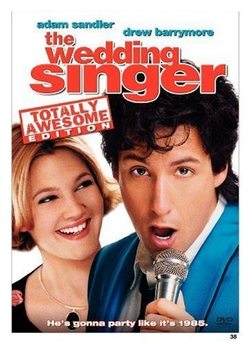 Adam Sandler and Drew Barrymore, the wedding singer, movie, film, romantic comedy