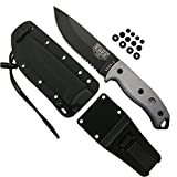 Authentic ESEE 5S-E Tactical Survival Knife, Kydex Sheath w/ Clip Plate