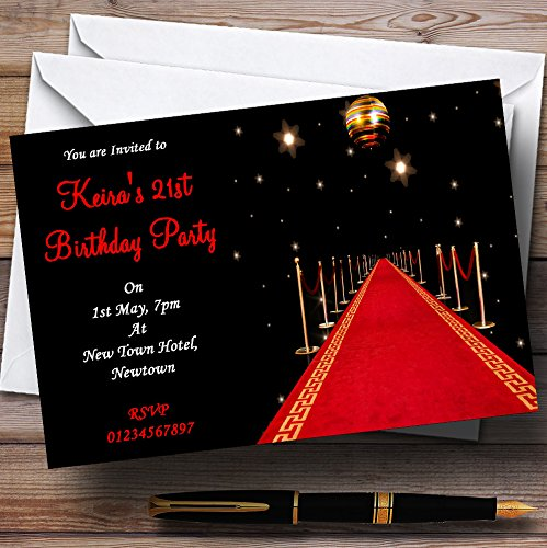 Red Carpet Vip Personalized Party Invitations