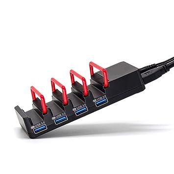 Aijin Powered Hub USB 3.0, multipuerto Puertos USB 3.0 Hub de ...