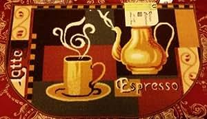 "The Pecan Man Hot Coffee Tea Pot KITCHEN RUG (non skid latex back),1Pcs 18x30"""