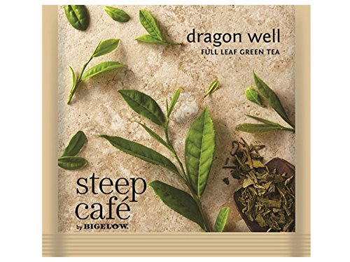 Steep Cafe Dragon Well Green Tea Bags by Bigelow, 50 Count Box